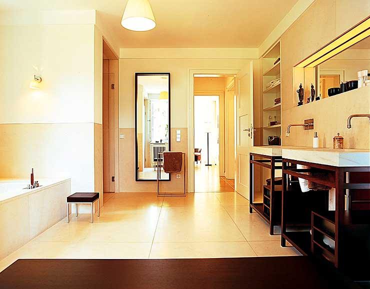symmetrische flachdachvilla villen sch ner wohnen. Black Bedroom Furniture Sets. Home Design Ideas