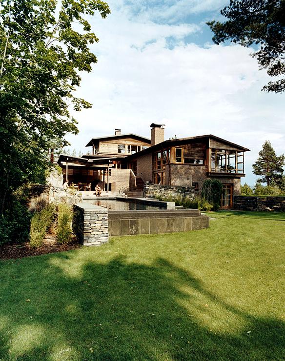 landhaus hoch ber dem fjord sch ner wohnen. Black Bedroom Furniture Sets. Home Design Ideas