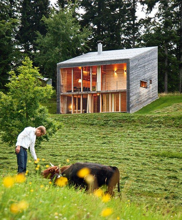 architektenhäuser: modernes ferienhaus aus holz - [schÖner wohnen],