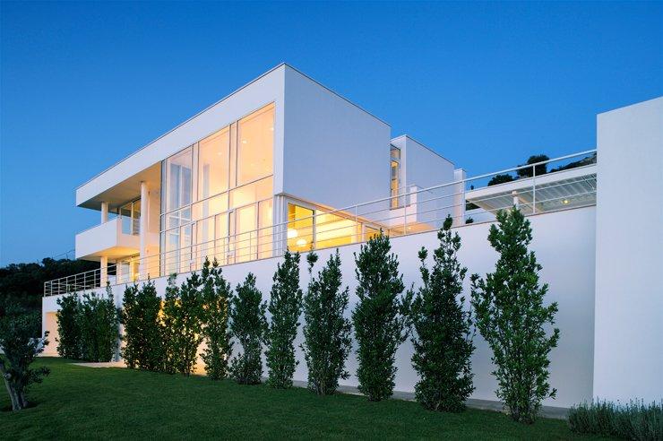 architektenh user wei e villa mit meerblick sch ner wohnen. Black Bedroom Furniture Sets. Home Design Ideas