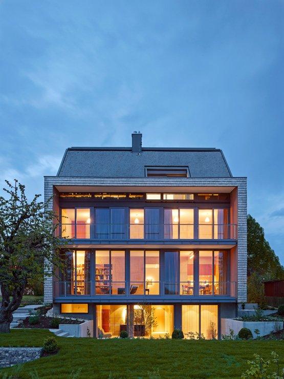 architektenh user puristischer neubau mit betonkern sch ner wohnen. Black Bedroom Furniture Sets. Home Design Ideas