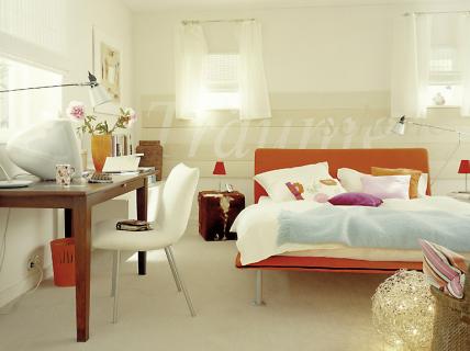 Helle freundliche farben kleiner raum sch ner wohnen for Schlafzimmer gestalten kleiner raum
