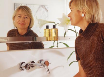 Edel und minimalistisch badezimmer sch ner wohnen for Minimalistisch wohnen vorher nachher