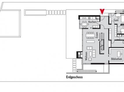 offener grundriss und wei e fassaden hangh user. Black Bedroom Furniture Sets. Home Design Ideas