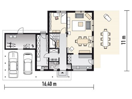 fertighaus mit hohem nutzwert geschlossene k che sch ner wohnen. Black Bedroom Furniture Sets. Home Design Ideas