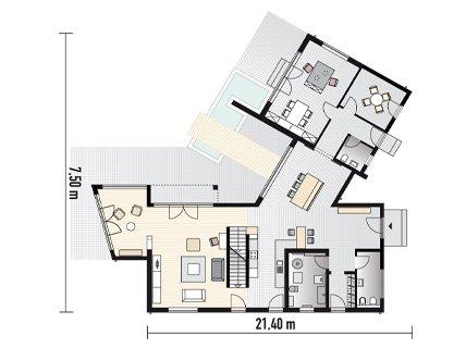 Flachdachhaus mit b ro fertigh user sch ner wohnen for Flachbau haus bauen