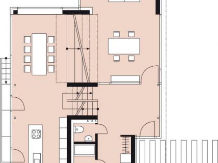 Raum f r kinder und arbeit h user auf kleinem grund for Wohnen auf kleinem raum
