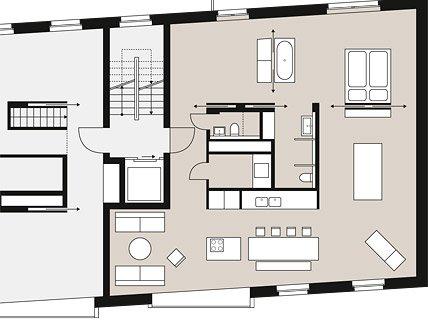 offenes wohnen mit geringem energieverbrauch stadth user sch ner wohnen. Black Bedroom Furniture Sets. Home Design Ideas