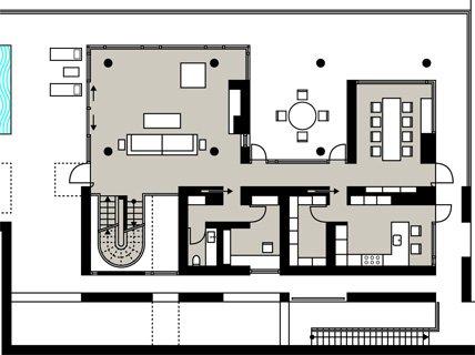 Klassisch moderne villa in hanglage villen sch ner for Moderne villen grundriss