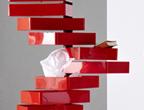 anregendes arbeitszimmer in rot wei arbeitszimmer sch ner wohnen. Black Bedroom Furniture Sets. Home Design Ideas