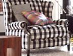 schwarzwei karierte m bel wohnzimmer sch ner wohnen. Black Bedroom Furniture Sets. Home Design Ideas